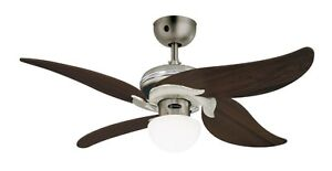 Ceiling fan with light and remote