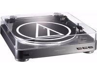 Audio-Technica AT-LP60 USB Turntable Record Player Black