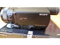 Sony FDR-AX100E Ultra HD 4K Camcorder.