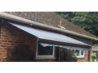 COMMERCIAL QUALITY FULL CASSETTE AWNING EX-DISPLAY 3 METRES ORIGINAL PRICE £1150 EXCELLENT CONDITION