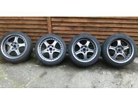 Rays 5x114.3 staggered split alloy wheels Toyota Honda Nissan lexus