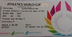 Athletics World Cup Day 1 14 July