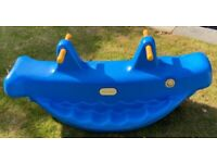 Little Tikes garden whale rocker rocking see saw