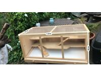 Large wooden hamster/rodent cage