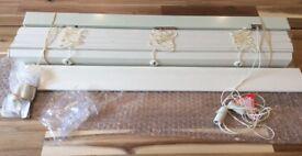Brand New in box Venetian Blind. Ecowood. 5cm wide slats. 63cm wide x 93cm drop.