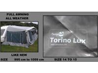 Caravan Awning Size 14 to Size 15