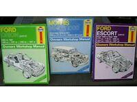Haynes workshop manuals x 3