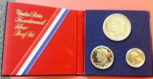 1776-1976 Bicentennial Silver Proof 3 Coin Set