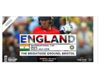 2 x ENGLAND V INDIA T20 in BRISTOL on Sunday 8th July