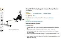 Nearly Brand New - Marcy RM413 Henley Magnetic Foldable Rowing Machine Silver/Black