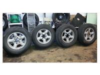 Isuzu Trooper 6 stud Alloy wheels & Tyres 4x4 Monterey with centre caps