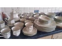 56 Piece Eternal Beau Dinner Service, tea set, coasters, mugs, salt/pepper NEW condition!