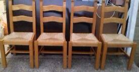 Set of 4 Oak Chairs