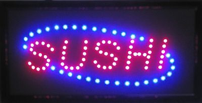 Ultra Bright Led Neon Open Sign Vivid Attention Catcher Japanese Sushi Bar L54