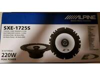 "Alpine sxe-1725s car door speakers 6.5"" 16cm"
