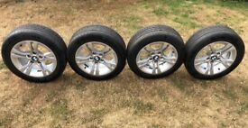 BMW Alloy Wheels With Tyres 205/55R16 Set