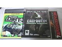 PS3 three game bundle: Colin McRae Dirt 2, Call of Duty 4 Modern Warfare, Metal Gear Solid 4