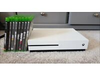 Xbox One S + 8 Games (HDMI & Power Cable included)