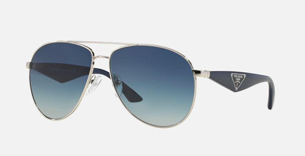 5402552b262 RARE Genuine PRADA Milano Triangle Aviator Metal Sunglasses SPR 53QS 1BC  8Z1 PR фото
