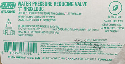 Wilkins Nr3xlduc 1 Lead Free Water Pressure Regulator Prv Double Union Sweat