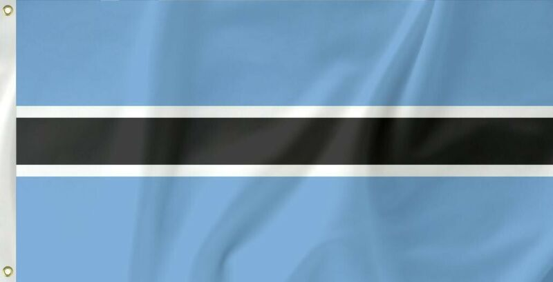 The flag of Botswana, Republic (Setswana: folaga ya Botswana)3 X 5 ft, NEW !