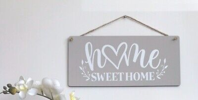 Handmade Wooden Sign - Home Decor Hanging Wall Plaque- Home Sweet Home