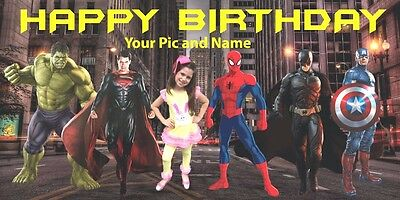 Birthday Banners With Photo Personalized (Birthday banner Personalized