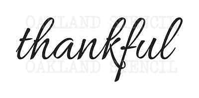 Thanksgiving Fall STENCIL**thankful**3 sizes for Signs Pallet Canvas Fabric