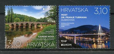 Croatia 2018 MNH Bridges Europa Bridge 2v Set Architecture Tourism Stamps