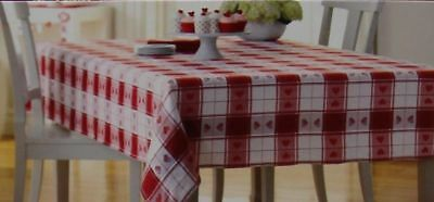 Valentine's Day Red & White with Heart Jacquard 70 in Round Tablecloth NWT, used for sale  Sandy Hook