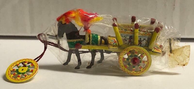 VINTAGE miniature ITALIAN horse carriage SICILIAN CART Italy FOLK ART