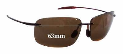 SFx Replacement Sunglass Lenses fits Maui Jim Breakwall MJ422 - 63mm (Maui Jim Australia)