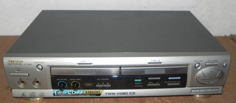 SHARP DX-V288W KARAOKE VIDEO CD PLAYER 2 TRAY TWIN DIGITAL