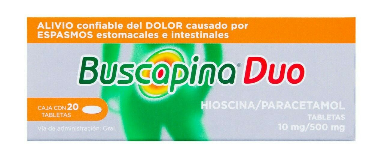 Buscapina Duo - dolor abdominal - pain and abdominal  cramps -  20 tablets