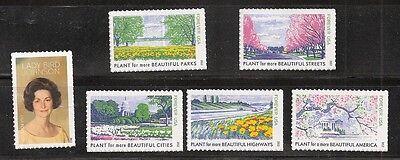 2012 #4716a-f Lady Bird Johnson 6 Single Stamps from Souvenir Sheet 4716