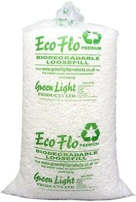 Ecoflo Quality Biodegradable Loose Void Fill Packing Peanuts 15 cubic ft