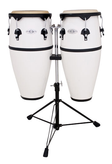 Toca Synergy Series Fiberglass Conga Set with Stand - 2300FWH