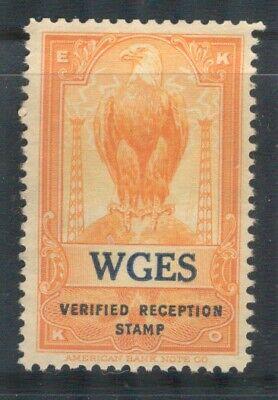 EKKO verified radio reception stamp WGES Chicago Illinois