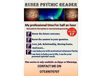 Runes Psychic Reader London - Wales - Scotland