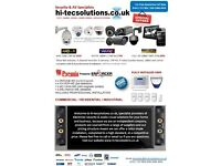 Installers of, CCTV, Intruder/Burglar Alarm, Access Control, Aerial, Sky Satellite TV systems