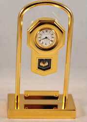 New Bulova B0530 Carousl Mini Boutique Collectible Office Desk Clock