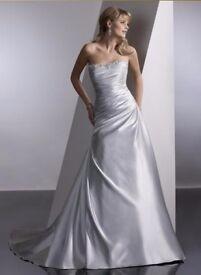 Sottero & Midgley Spring 2010 Wedding Dress in Silver Mist. Size 12.