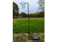 NETBALL POST, HOOP, NET & WEIGHTED BASE STAND - FULL SIZED - Outdoor Sport Equipment