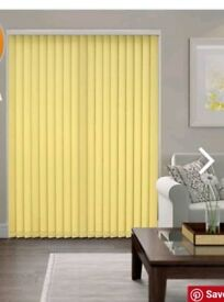 Pair of new yellow blinds