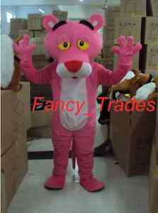Professional Pink Panther Mascot Fancy Dress Costume Adult Size Cos