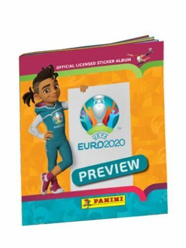 Uefa Euro 2020 Preview Panini Orange Empty Sticker Album 528 Intern. Version New
