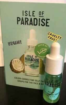 Isle of Paradise Self-Tanning Drops MEDIUM Face & Body 4mL MINI/Trial Sz NEW!