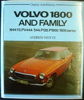 VOLVO 1800 AND FAMILY 1944-73; PV444/544; P120, P1900/1800 SERIES WHYTE CAR BOOK