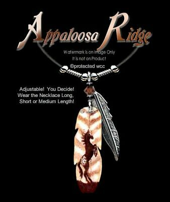 APPALOOSA RIDGE NECKLACE WILD HORSES ART HORSE GIFT COWGIRL RIDER FREE SHIP Z