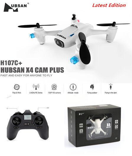 Hubsan H107C+ X4 Plus Mini RC Quadcopter 2.4G 6 Axis 720P HD Camera RTF (White)